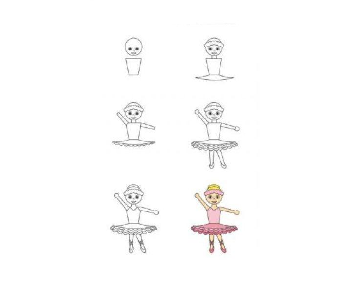 Балерина рисунок для детей (27)