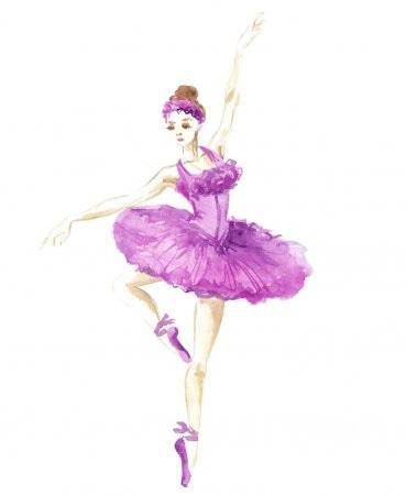 Балерина рисунок для детей (4)