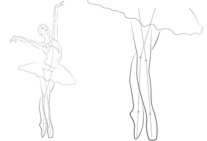 Балерины удивительные картинки для срисовки (11)