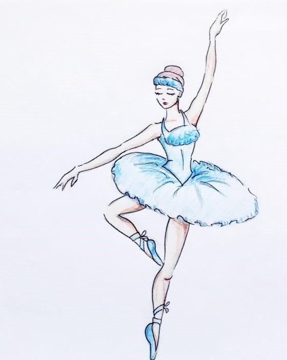 Балерины удивительные картинки для срисовки (15)