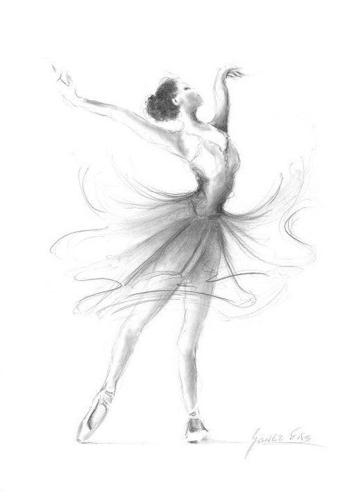 Балерины удивительные картинки для срисовки (16)