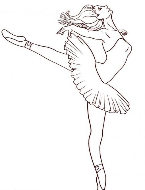 Балерины удивительные картинки для срисовки (17)