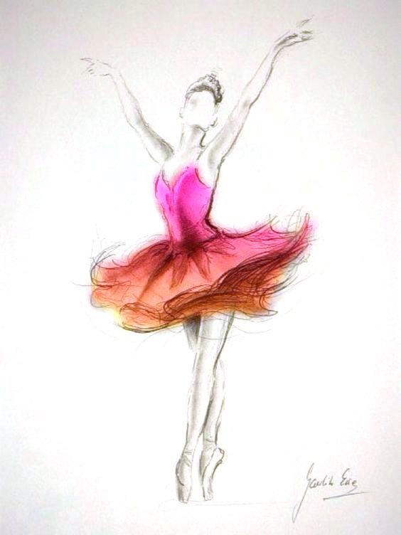 Балерины удивительные картинки для срисовки (18)