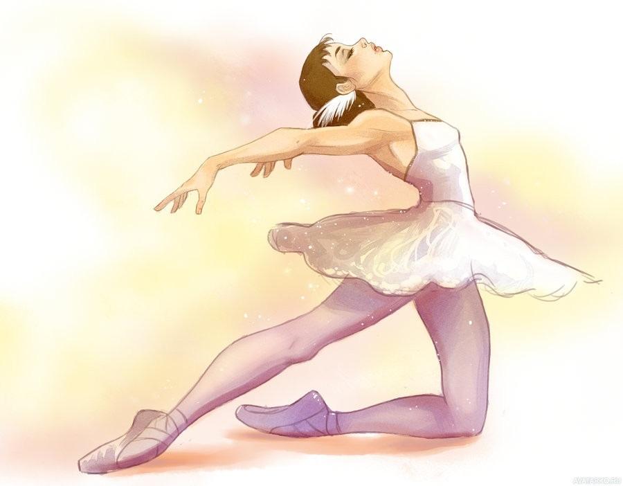 Балерины удивительные картинки для срисовки (19)