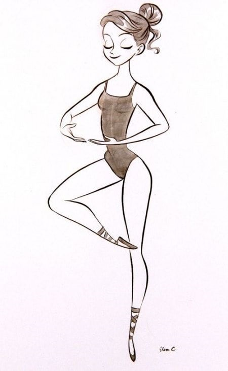 Балерины удивительные картинки для срисовки (2)