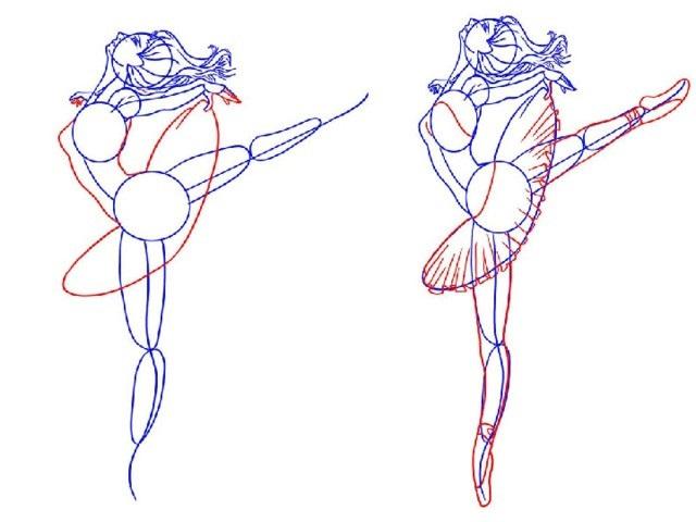 Балерины удивительные картинки для срисовки (20)