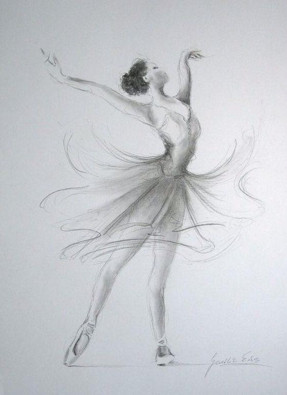 Балерины удивительные картинки для срисовки (22)