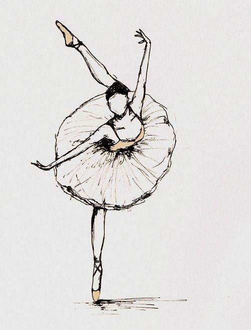 Балерины удивительные картинки для срисовки (27)
