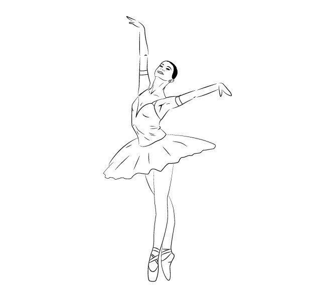 Балерины удивительные картинки для срисовки (3)