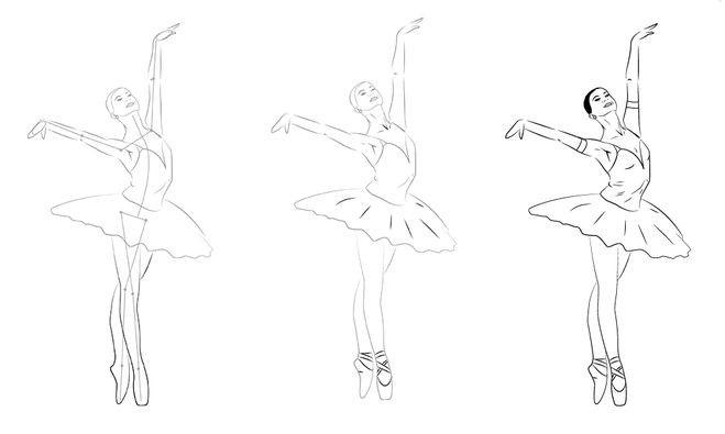 Балерины удивительные картинки для срисовки (5)