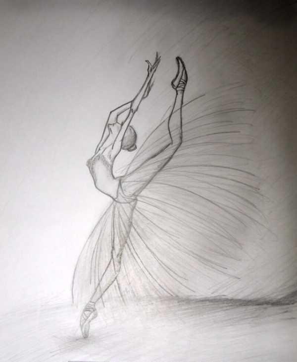 Балерины удивительные картинки для срисовки (7)