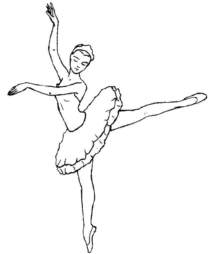 Балерины удивительные картинки для срисовки (8)