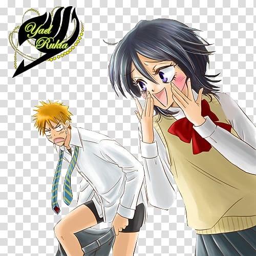 Блич картинки Ичиго и Рукия любовь (10)