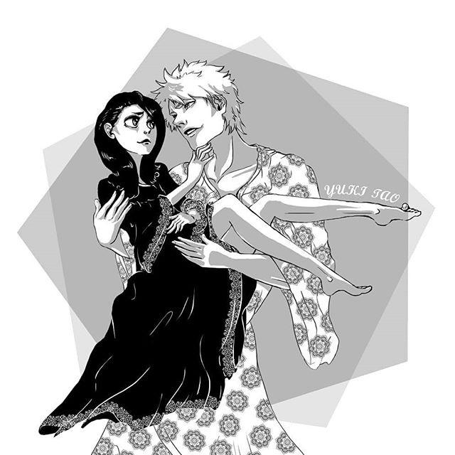 Блич картинки Ичиго и Рукия любовь (11)