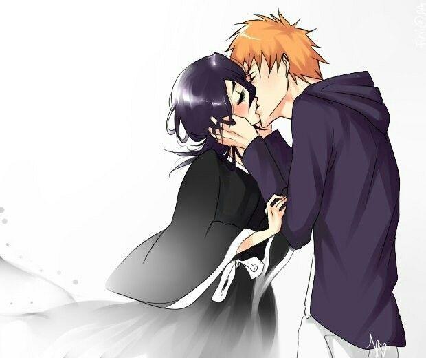 Блич картинки Ичиго и Рукия любовь (15)