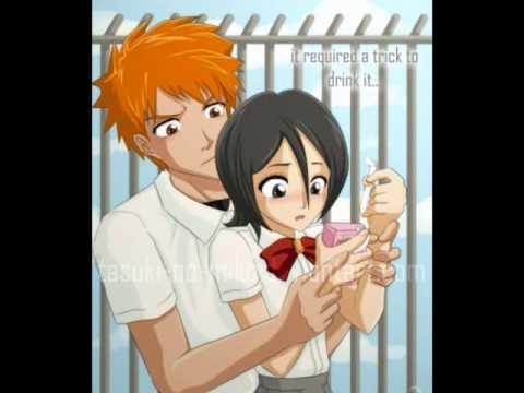 Блич картинки Ичиго и Рукия любовь (21)