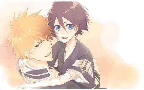 Блич картинки Ичиго и Рукия любовь (22)