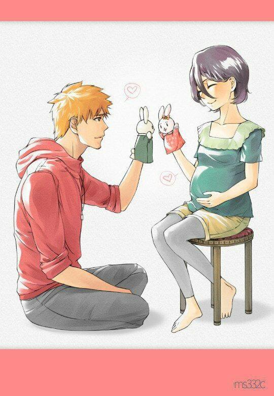 Блич картинки Ичиго и Рукия любовь (5)