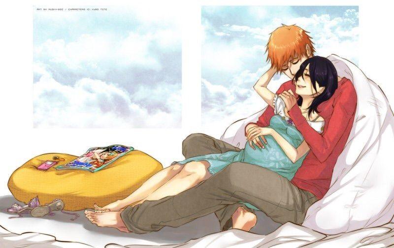 Блич картинки Ичиго и Рукия любовь (9)