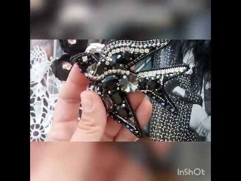Брошь ласточка из бисера фото (14)