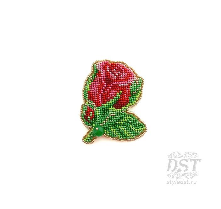 Брошь роза из бисера фото (11)