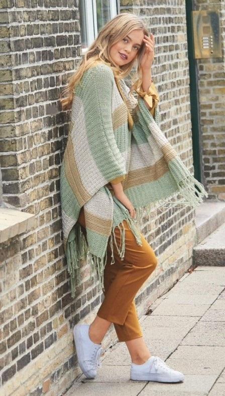 Вязаное пончо фото (13)