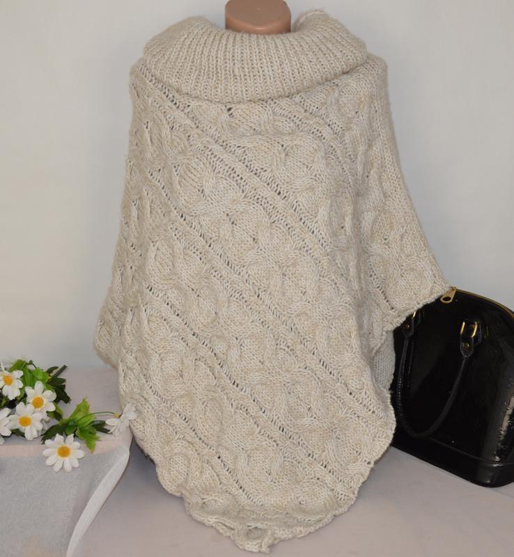 Вязаное пончо фото (17)