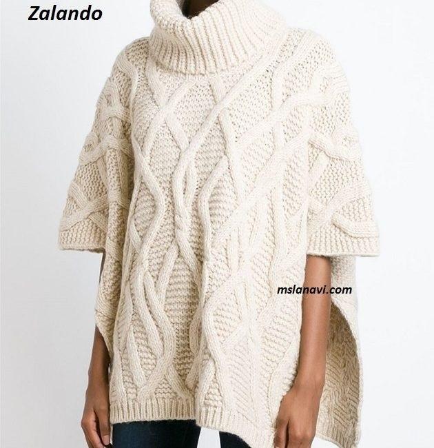 Вязаное пончо фото (19)