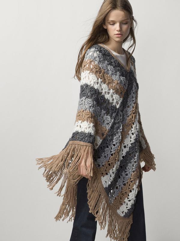 Вязаное пончо фото (20)