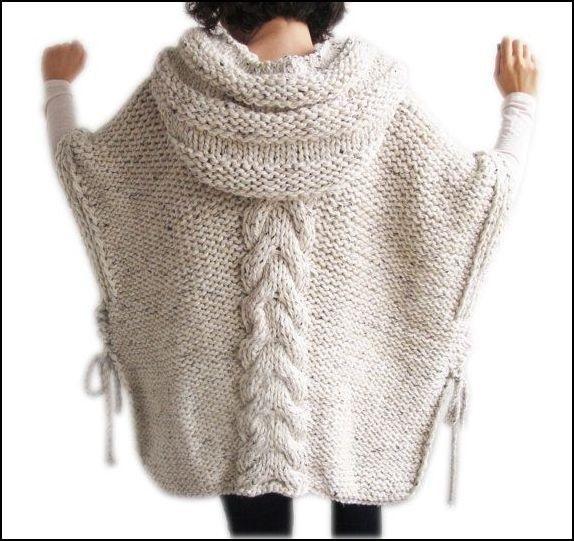 Вязаное пончо фото (21)