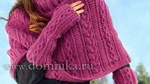 Вязаное пончо фото (4)