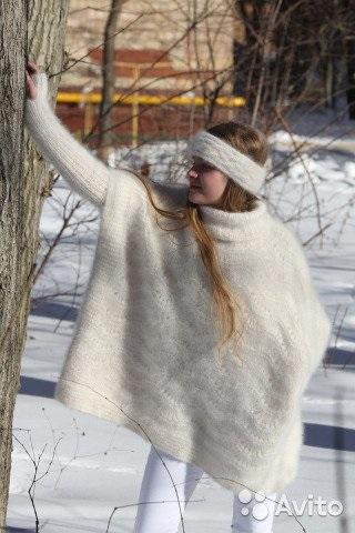 Вязаное пончо фото (6)