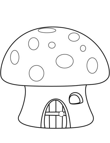 Грибок рисунок для детей (1)