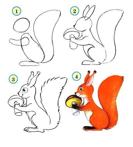 Грибок рисунок для детей (12)