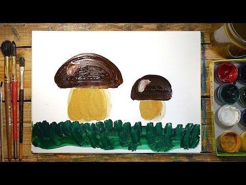 Грибок рисунок для детей (13)