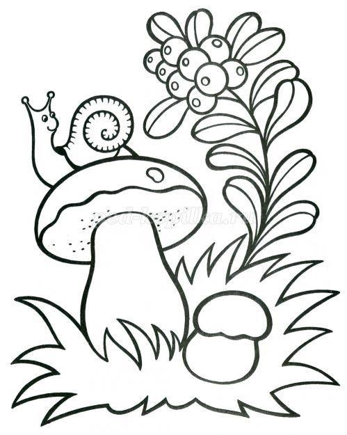 Грибок рисунок для детей (7)
