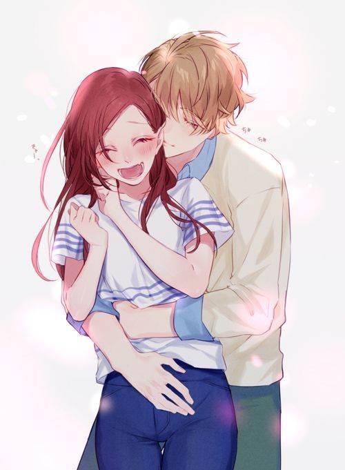 Девушка с парнем аниме арт (1)