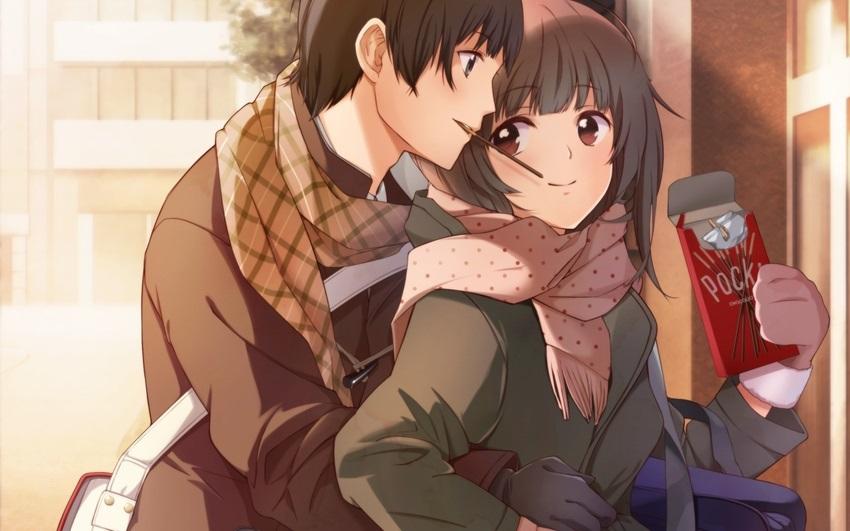 Девушка с парнем аниме арт (12)