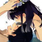 Девушка с парнем аниме арт