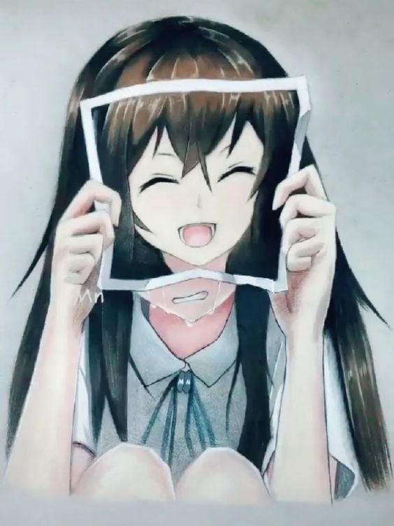Девушки грустные на аву аниме (2)