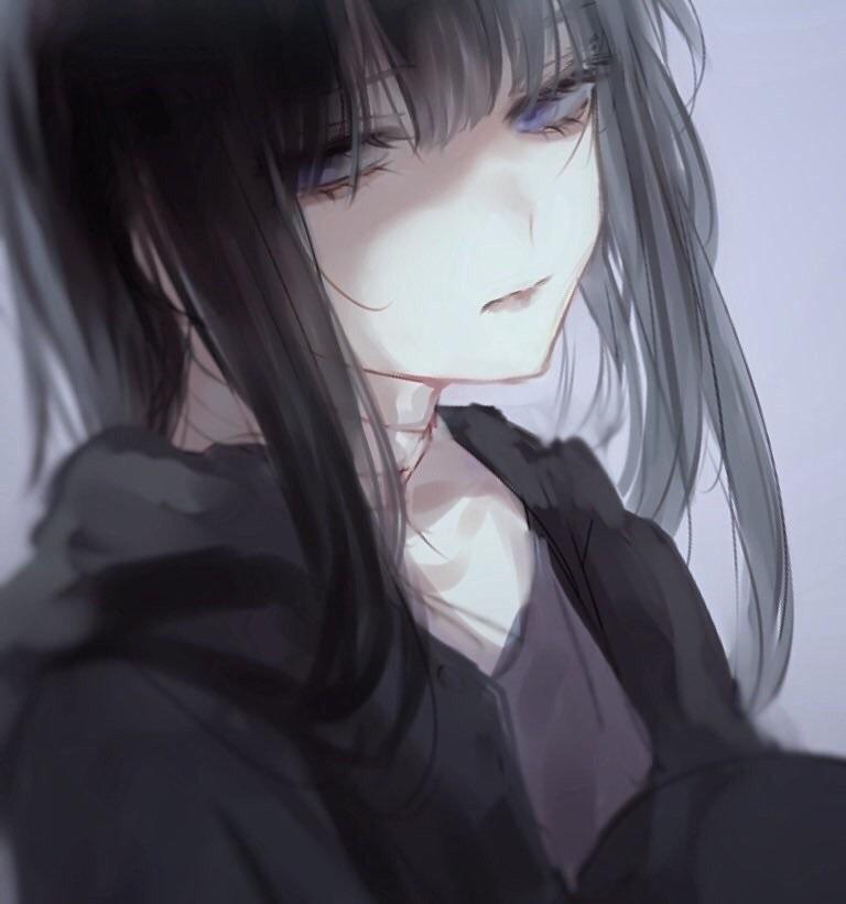 Девушки грустные на аву аниме (5)
