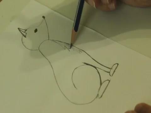 Детский рисунок лиса и тетерев (8)