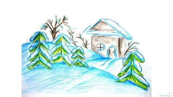 Зима класс 3 рисунки подборка (1)