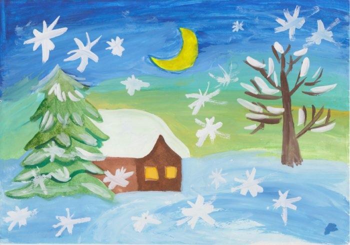 Зима класс 3 рисунки подборка (11)