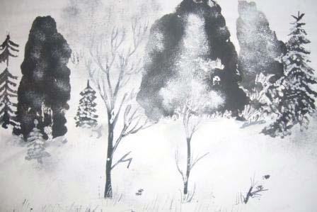 Зима класс 3 рисунки подборка (3)