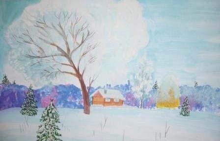 Зима класс 3 рисунки подборка (5)