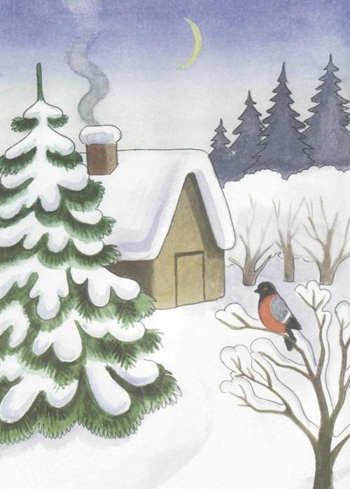 Зима класс 3 рисунки подборка (7)