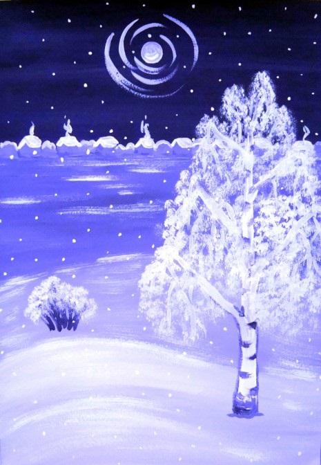 Зима класс 3 рисунки подборка (8)