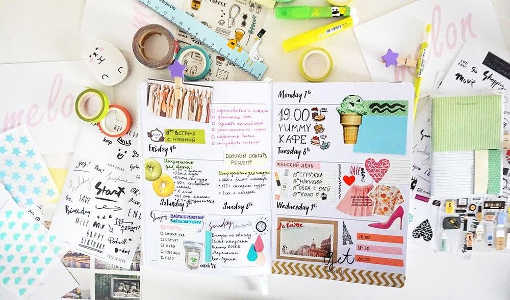 Как оформить красиво ежедневник   фото (10)