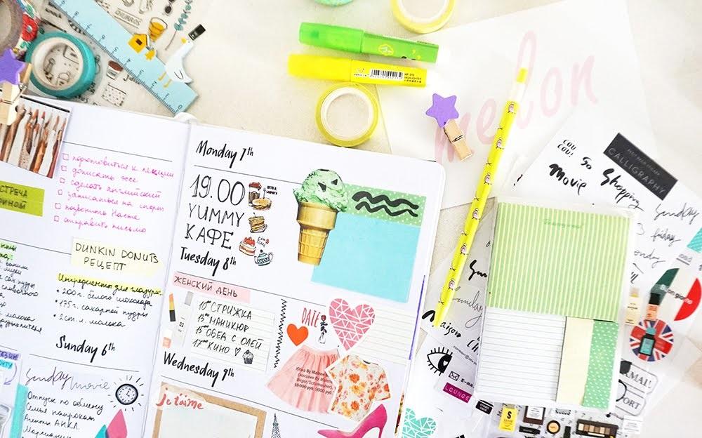 Как оформить красиво ежедневник - фото (12)